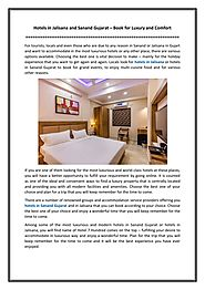 Hotels in Jalisana and Sanand Gujarat – Book for Luxury and Comfort