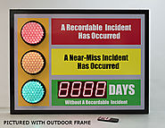 Stoplight Days Without an Accident Sign with Large Display (36Hx48W)