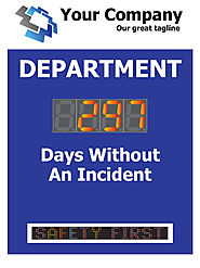 Scrolling Message Electronic Safety Scoreboard with One Large Counter (48Hx36W)