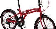 COGHORN BOXER FOLDING BIKE WITH 20IN WHEELS AND COMPACT 7-SPEED FRAME - Best Cheap Mountain Bikes