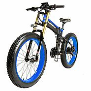 LANKELEISI 26 XXT750 Fat Tire Beach Snow Folding Electric Bicycle