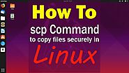 How to use SCP commands in Linux Copy files securely through the ssh server
