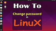 How to change password in linux terminal by Terminal and GUI in Ubuntu