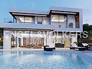 Magnificent villa with modern design on 1 line of the sea.