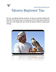 Falconry Beginners' Tips by Falconry Arabia - Issuu