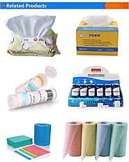 Industrial cleaning paper roll perforated 50% wood pulp and 50% spunlace cloth super absorbent industrial cleaning wipes