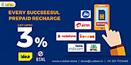 Get up to 3% Cash back on every prepaid mobile recharge