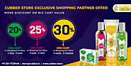 Online Shopping with Cubber store Exclusive Partners and Get Best Offer