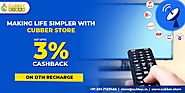 Online DTH Recharge on Cubber Store with up to 3% Cashback