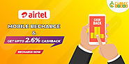 Get up to 2.6% cashback on Airtel Prepaid Mobile Recharge
