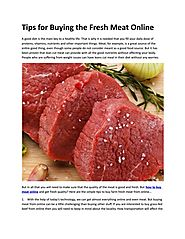 Tips for Buying the Fresh Meat Online by getfarmfresh04 - Issuu