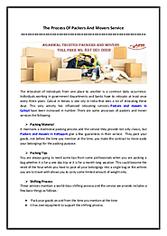 The Process Of Packers And Movers Service