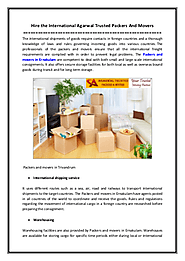 Hire the International Agarwal Trusted Packers And Movers