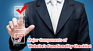 7 Major Components of Website's Functionality Checklist