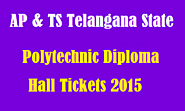 SBTET Diploma Hall ticket 2015-16 1st year 3rd, 5th sem