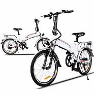 Cheesea Aluminum Alloy Folding Electric Mountain Bike | Cycling Bicycle White | Mountain Bikes| Bike Parts| Bike Acce...