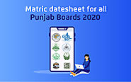 Matric Date Sheet for all Punjab Boards 2020 - tutoria.pk-blog