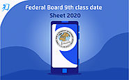 Federal Board 9th Class Date Sheet 2020 - tutoria.pk-blog