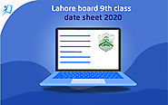 Lahore Board 9th Class Date Sheet 2020 - tutoria.pk-blog