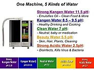 What is an alkaline water ionizer | 5 types of Kangen water and purpose.