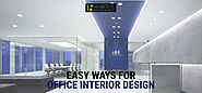 Easy Concepts For Office Interior Design