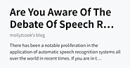 What are the reasons people don't understand Aware of speech recognition and Voice Recognition?