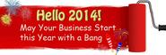 Hello 2014 - May Your Business Start this Year with a Bang