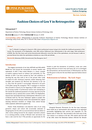 (PDF) LUPINE PUBLISHERS Open Access L Latest Trends in Textile and Fashion Designing Fashion Choices of Gen Y in Retr...