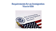 Requirements for an Immigration Visa in USA