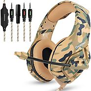 ONIKUMA K1 Camouflage Headset Bass Casque with Mic | Shop For Gamers