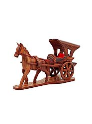 Wooden Horse with Buggy