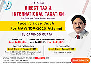 Vinod Gupta Classes | CA Final Direct Tax ( DT) | ACCA | VG Learning Destination
