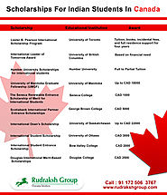 scholarships for Indian Students in Canada