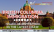 British Columbia Latest Draw issued 18 Invitations