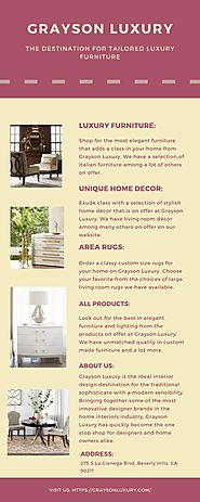 Visit the Ideal Destination for Custom Made Furniture | Grayson Luxury