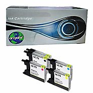 amsahr Remanufactured Replacement Ink Cartridges for Brother LC71, LC75 (2 Black, 3 Color, 5-Pack) Compatible To Brot...
