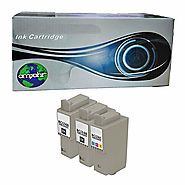 amsahr Remanufactured Replacement Ink Cartridges for Canon BCI21/24 (2 Black, 1 Color, 3-Pack) Compatible to Canon PI...