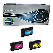 amsahr Remanufactured Replacement Ink Cartridges for HP 952XL(F6U19AN) Cyan, Yellow, Magenta, 3-Pack Compatible to HP...