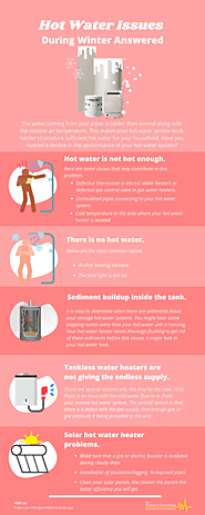 Hot Water Issues During Winter