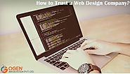 How to Trust a Web Design Company