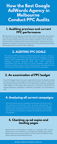How the Best Google AdWords Agency in Melbourne Conduct PPC Audits