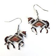 Latest Horses Jewelry, Earring Light weight Statement Earring Colorful Jewelry