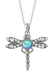 Sterling Silver and Crystal Dragonfly Pendant by LeightWorks, San Diego