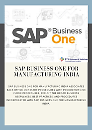 SAP Business One for Manufacturing India