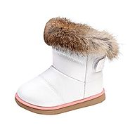 Muxika Winter Baby Girl Cute Waterproof Warm Leather Shoes Martin Boot Outwear (Age:1-2 Years, White)