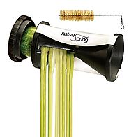 Spiral Vegetable Slicer, Hand Held with Cleaning Brush. Zucchini and Carrot Veggie Pasta Maker
