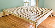 You should use the platform bed frame to support the mattress