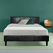 The Zinus Faux Leather Upholstered Platform Bed