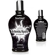 SunGodZ Apollo/Artemis 375X Bronzer Tanning Lotion with Argan, Coconut Oil and Agave