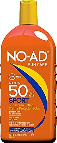 NO-AD Sun Care Sport Sunscreen Lotion, SPF 50 16 oz